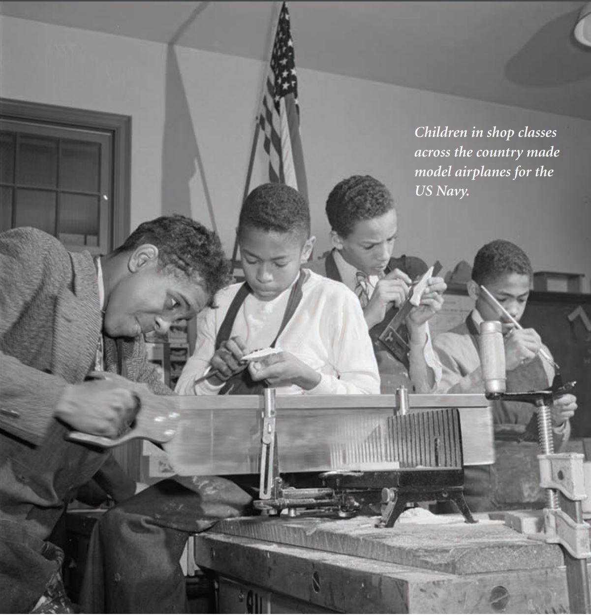 Load Boys Building Model Aircrafts, Courtesy: Library of Congress in Main Image Viewer