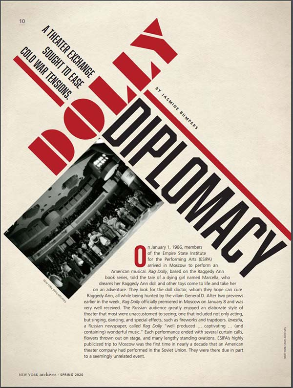 Dolly Diplomacy Article