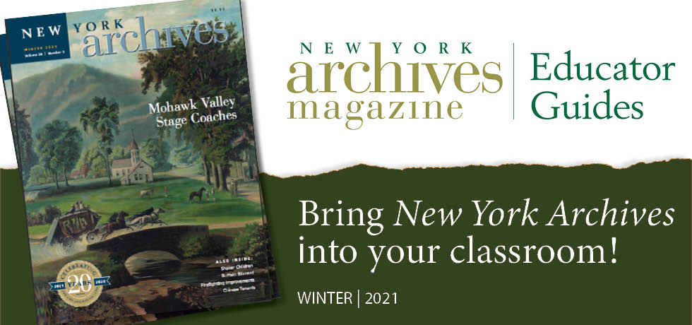 Winter 2021 Educator Guide - The Stagecoach in Upstate NY