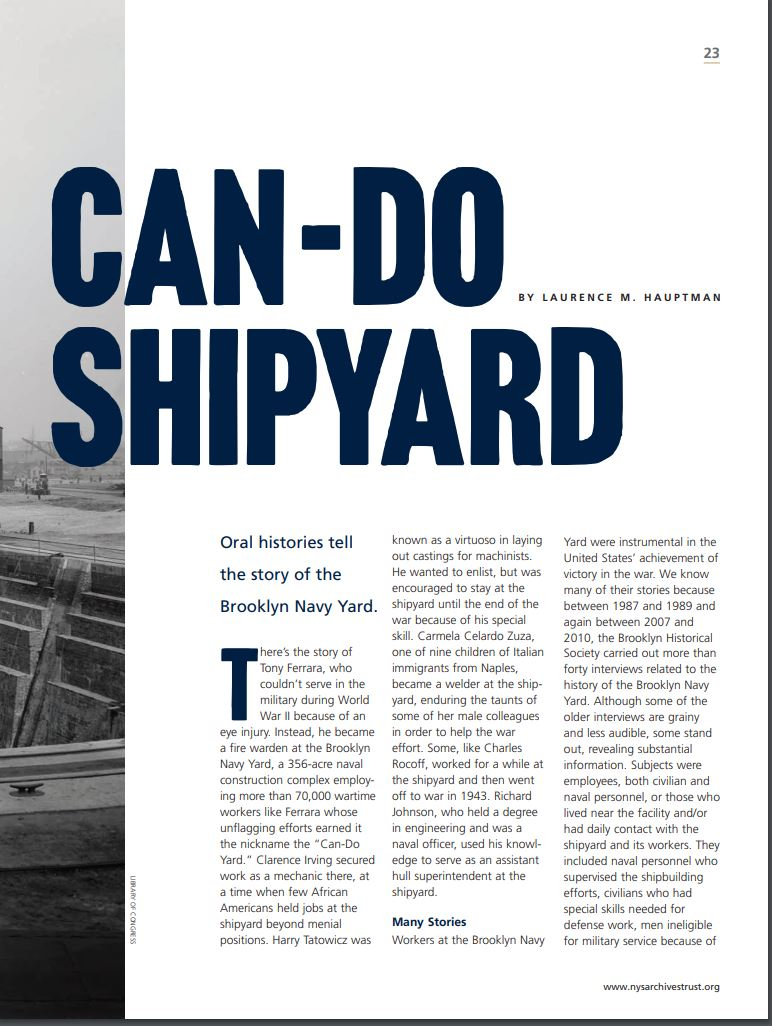 Can-Do Shipyards Article