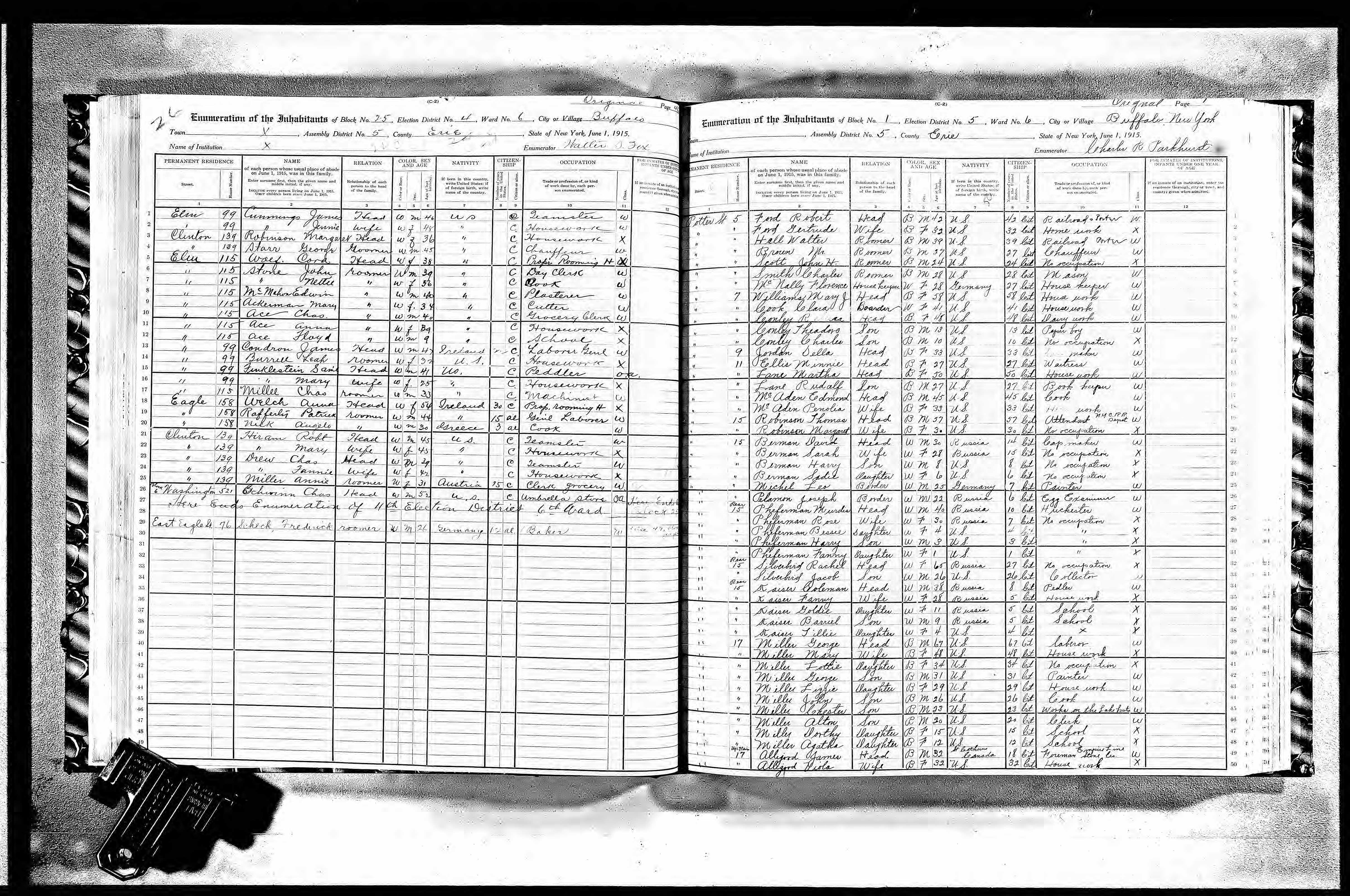 Defining Community: Buffalo and the 1915 New York State Census