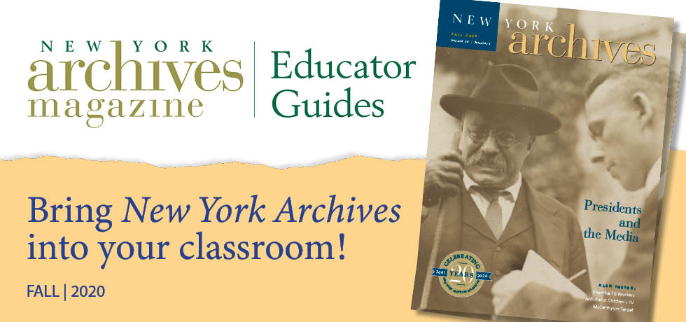Fall 2020 Educator Guide - Presidents and the Media