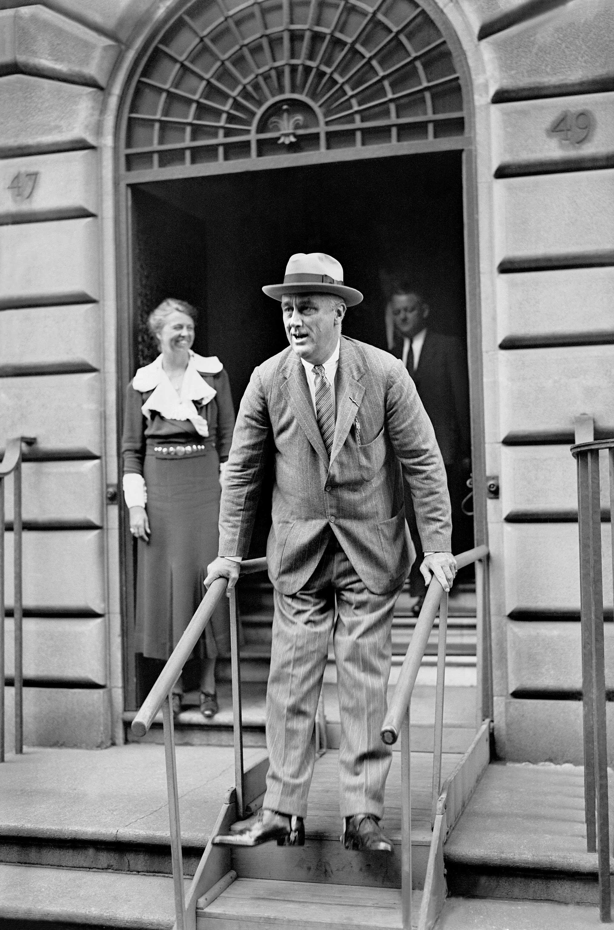 President Franklin Roosevelt Descending Stairs, Courtesy: The Roosevelt House