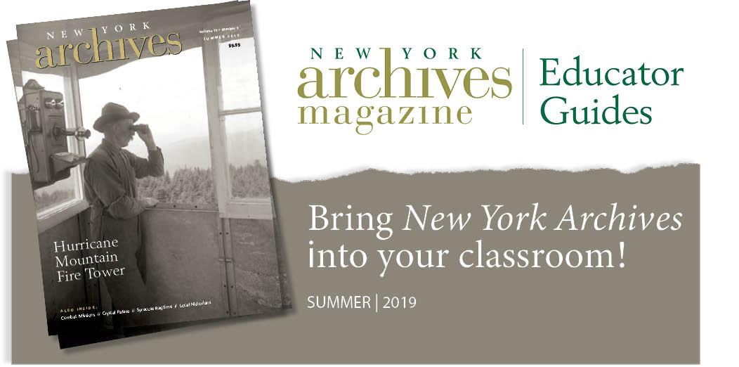 Summer 2019 Educator Guide - Hurricane Mountain Fire Tower