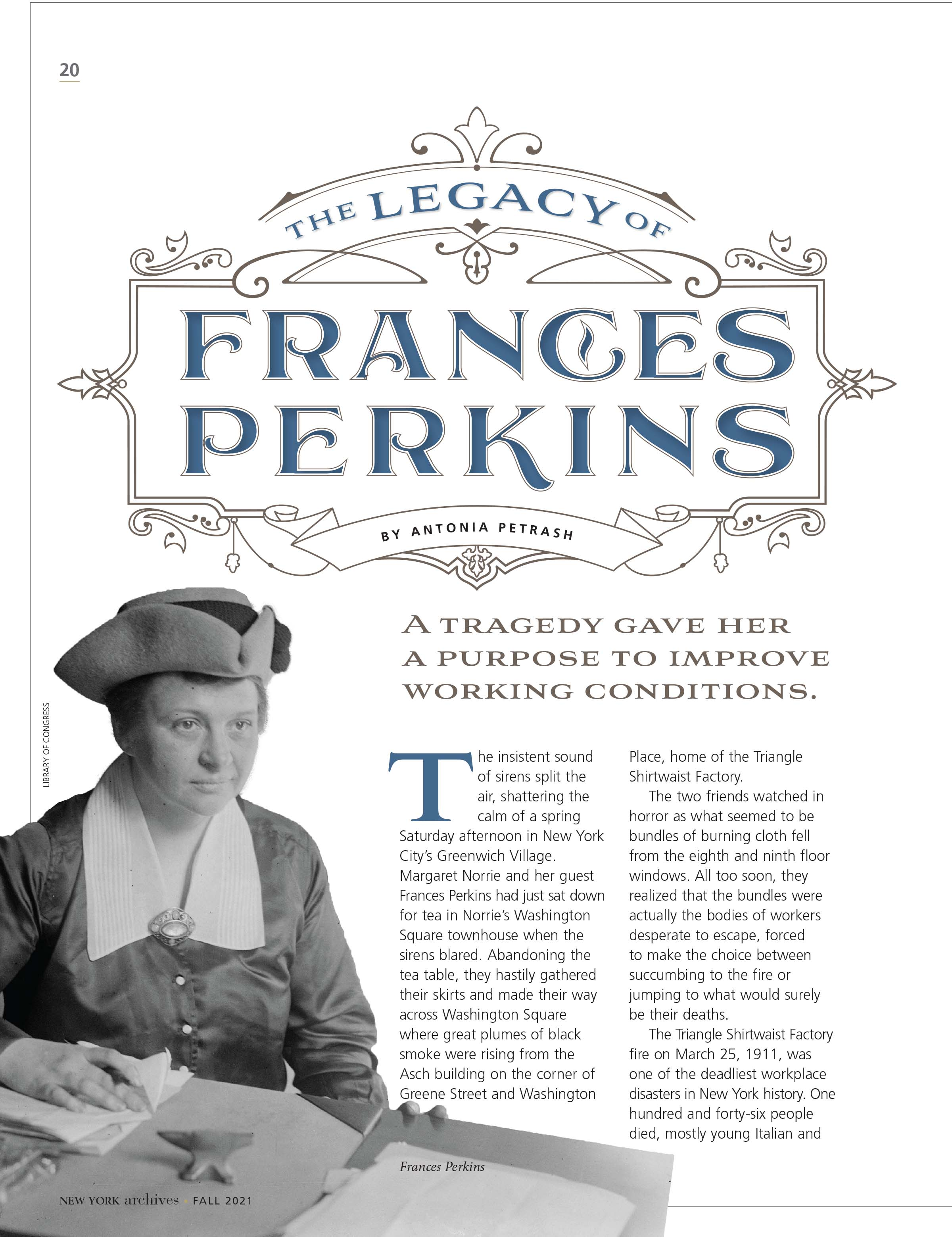 The Legacy of Frances Perkins Article