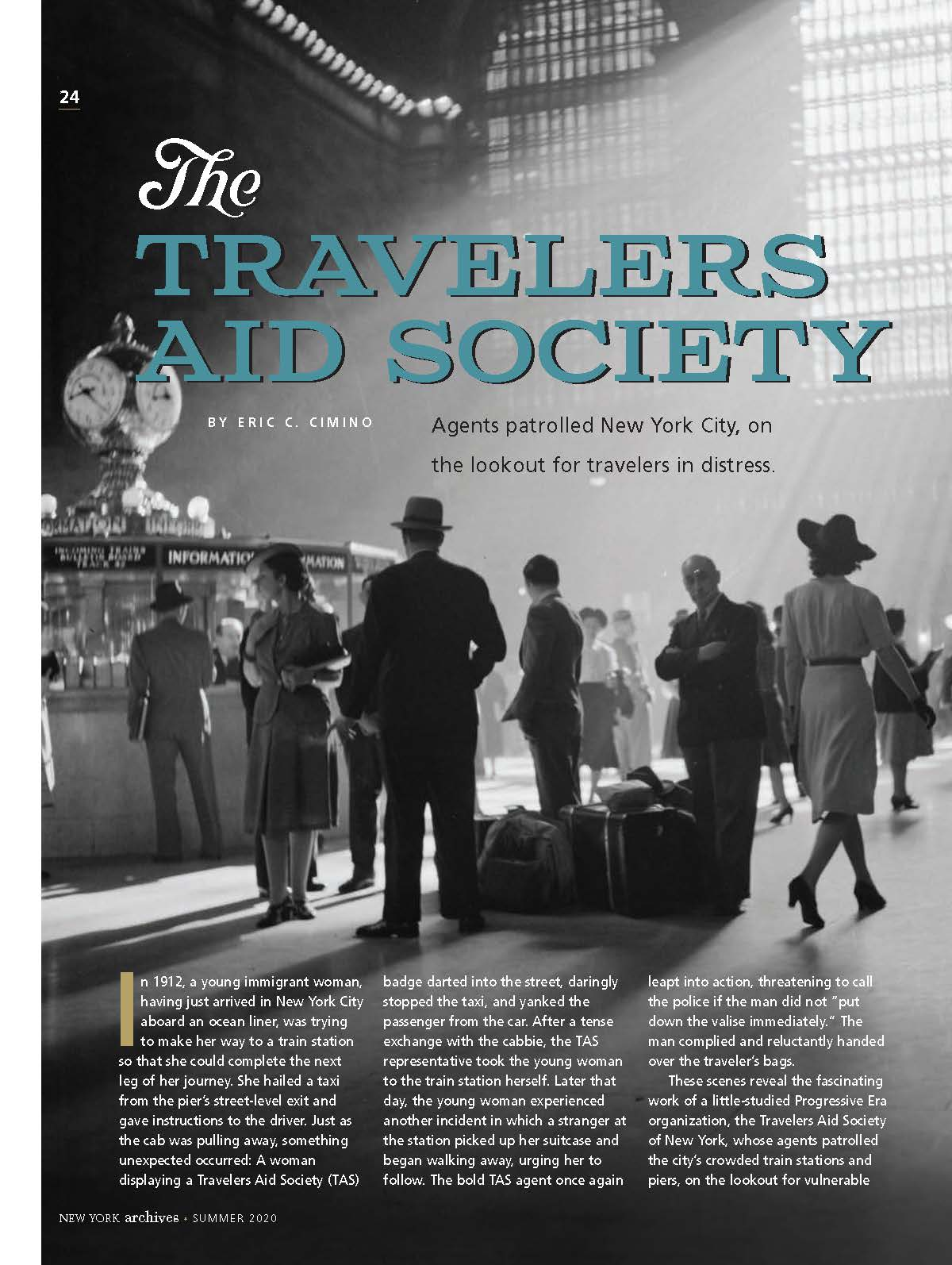 The Travelers Aid Society Article