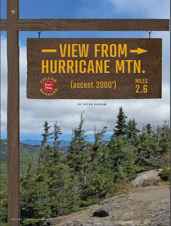 View from Hurrican Mountain Article