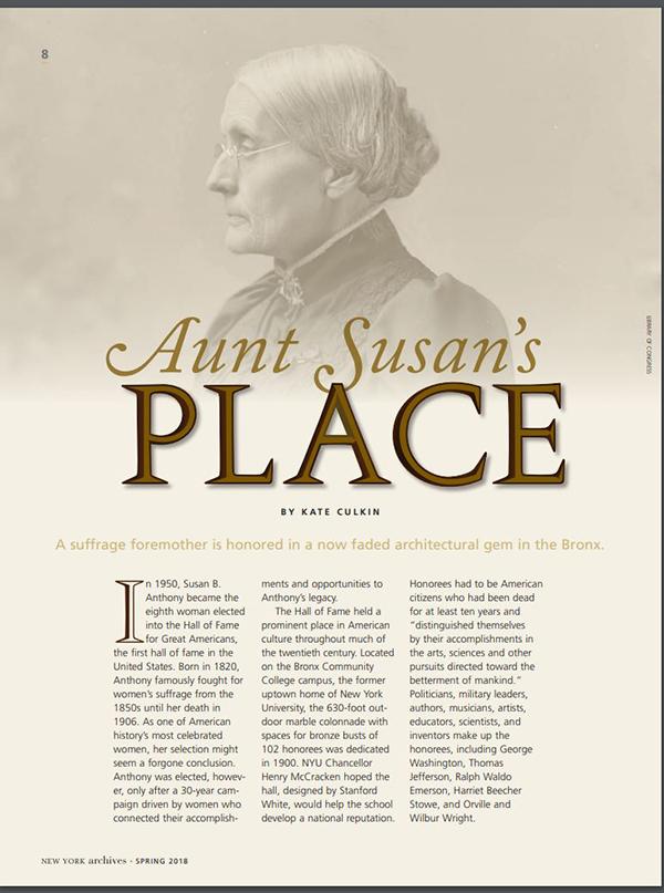 Aunt Susan's Place Article