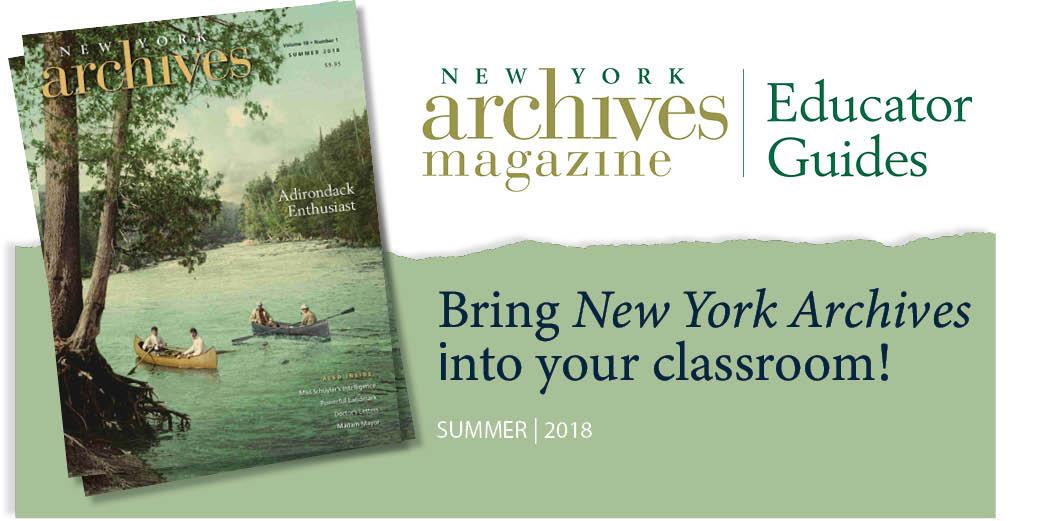 2018 Educator Guide - Adirondacks and the Beginning of American Camping