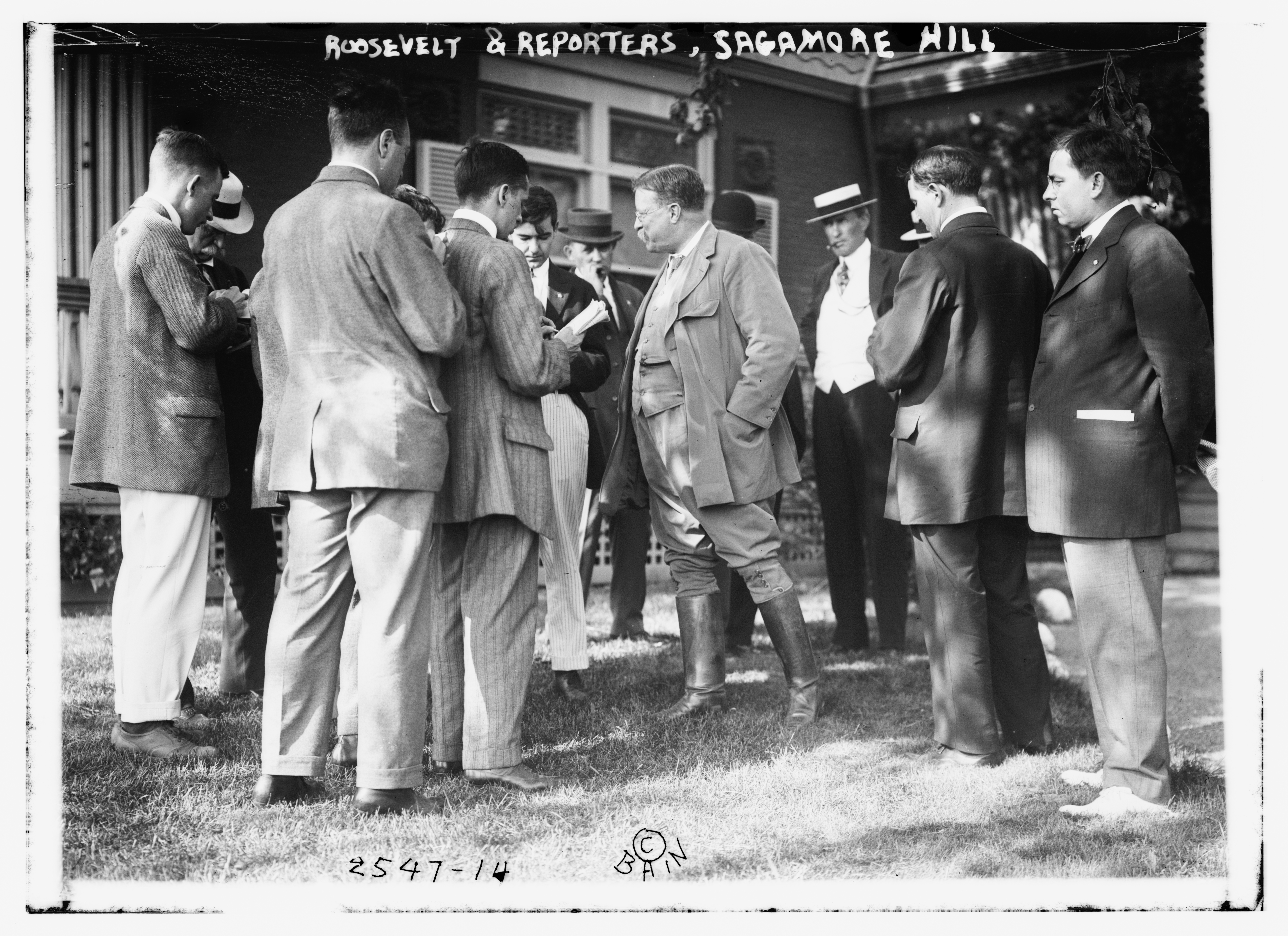 President Theodore Roosevelt with the Press, Courtesy: Library of Congress