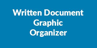 Written Document Graphic Organizer